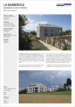 Construction de deux immeubles de haut standing PPE à St-Sulpice EPFL Lausanne Vaud