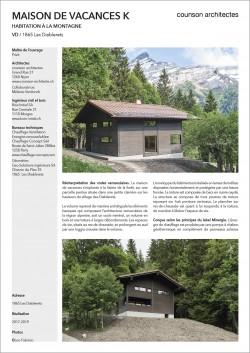maison de vacances Diablerets Kladi counson architectes