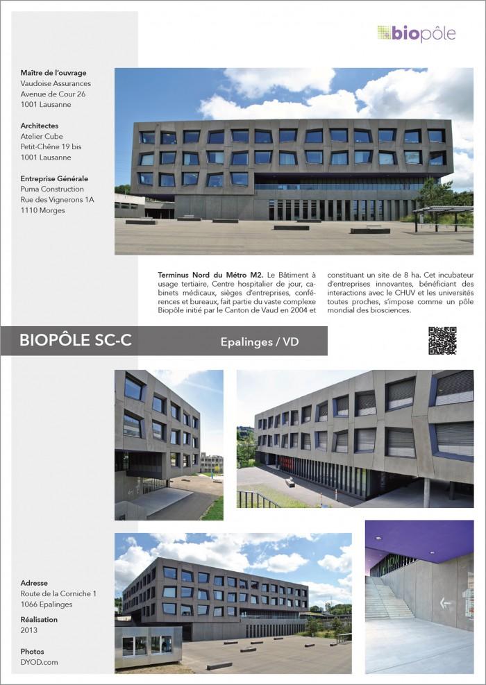 BioPôle Centre hospitalier de jour, cabinets médicaux, sièges d'entreprises, conférences et bureaux à Epalinges Croisettes M2