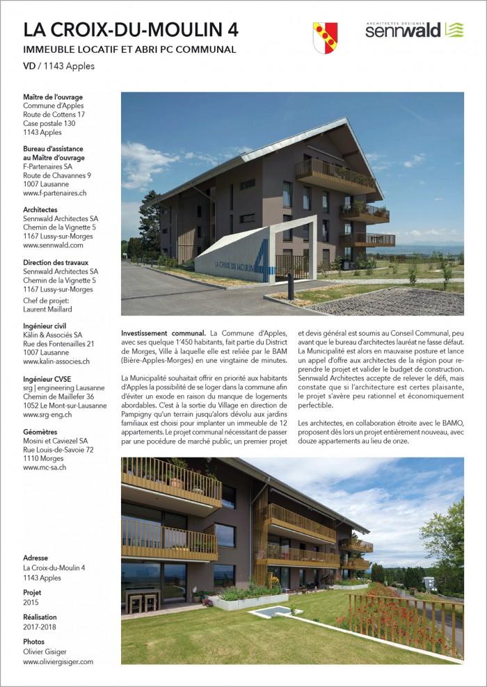 Croix-du-Moulin 4 Apples Sennwald Architectes